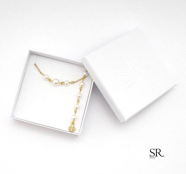 Brautschmuck - Braut Rückenkette Perlen edel Hochzeit Kette gold  - ein Designerstück von sweetrosy bei DaWanda