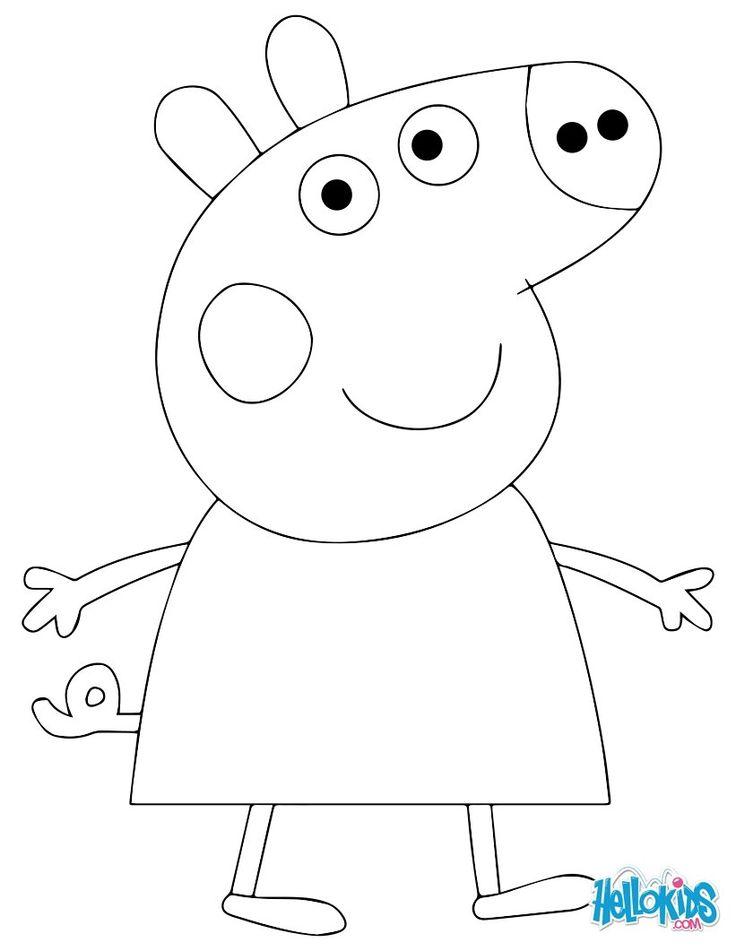 Peppa+Pig+Cake+Template | Colorier en ligne Imprimer