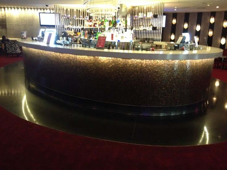 PHOTO 17 Velvet Bar: Curved theme continues with the circular bar.