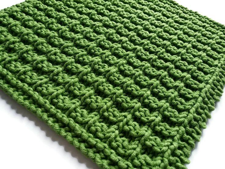 Patron gratuit de lavette au tricot