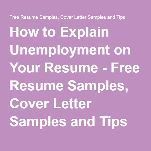 how to explain unemployment on your resume free resume samples