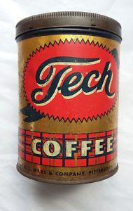 Vintage Tech Coffee lithographed Tin A L Mars Company Pittsburgh PA   eBay