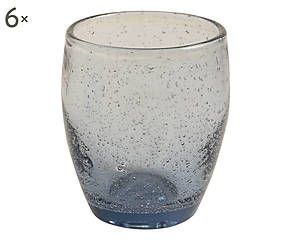 Set di 6 bicchieri da acqua in vetro soffiato zucchero - h 10 cm
