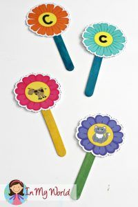 FREE Spring Preschool Centers Alphabet and Beginning Sounds Flowers