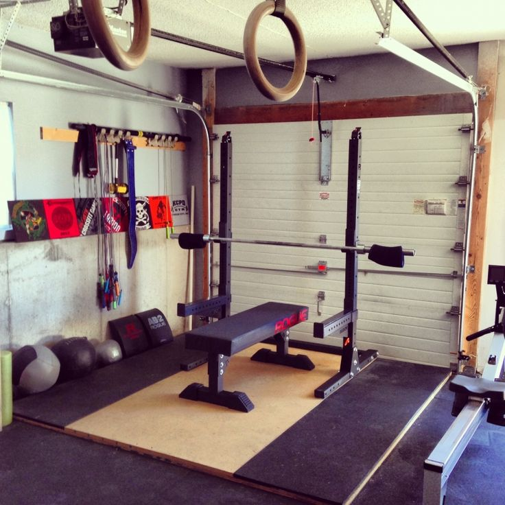 Best garage gyms images on pinterest gym