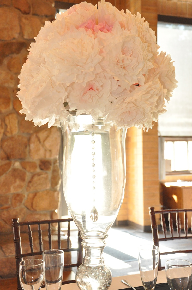 44 best wedding beads for centerpiece images on pinterest vase centerpiece with hanging crystals inside vasebut we have to not have the reviewsmspy