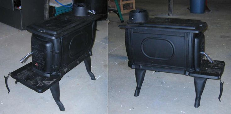 How to install a small wood burning stove into your garage. Blog with instructions and pictures! Cool.