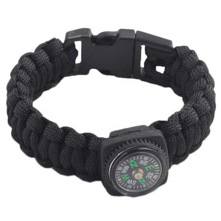 New Outdoor Self-rescue Parachute Cord Bracelets Compass Survival Camping Hiking Hunting Boating Travel Strength & Durabilit #jewelry, #women, #men, #hats, #watches, #belts, #fashion