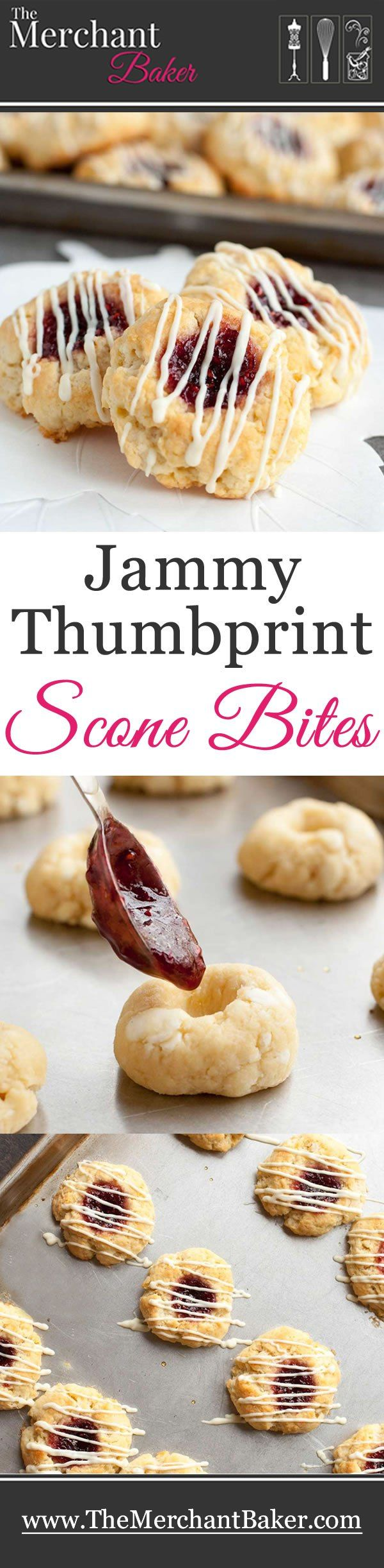 Jammy Thumbprint Scone Bites - The Merchant Baker