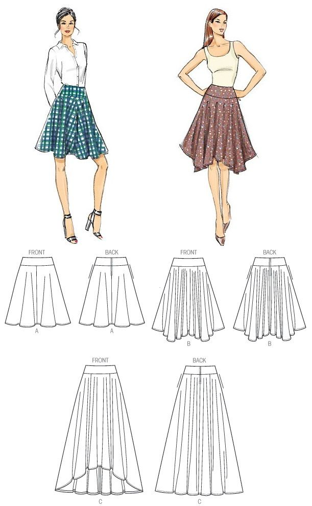 Very Easy Vogue V9007. Skirts. £12