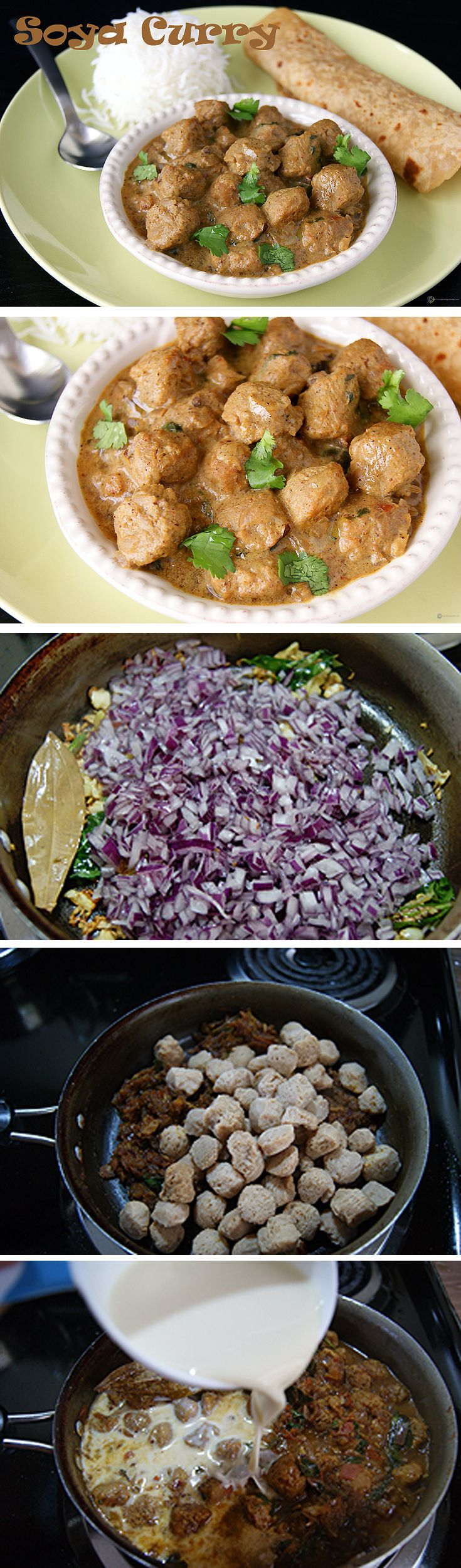 119 best soya recipes images on pinterest biryani recipe indian a healthy and protein rich soya curry made with soya chunks and flavored with soy milk forumfinder Choice Image