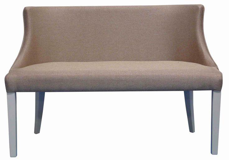 MILANO 2 - Classic Curve Back 2 Seat Occasional Sofa in Clarke & Clarke Maximus Heather with White leg finish.