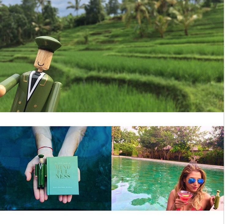 Thank you to Sabina Emrit for sharing these beautiful pictures of her 'Birthday Bali' travels with our little friend... #MyGreenMan #VogueFestival http://www.harrods.com/style-insider/news/ss15/harrods-my-green-man-competition