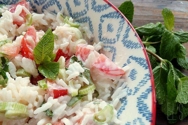 Salade de riz au yaourt à lagrecque