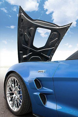 ♂ Blue car Corvette ZR1