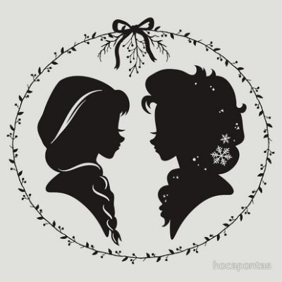 Elsa and Anna Silhouette // Disney                                                                                                                                                     More