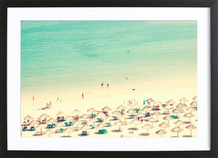 beach life as Framed Poster by Ingrid Beddoes | JUNIQE