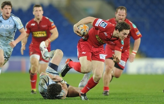 Scarlets - one of the region's two regional rugby teams - are based in Llanelli at Parc y Scarlets.  They play their rugby in the Rabo Direct Pro 12 league.