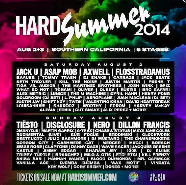 L A S Up With Electronica At Hard Summer Music Festival