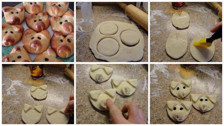 maialini di pane, per la pasta v. orsetti di pane al miele  http://www.cucchiaio.it/ricetta/ricetta-orsetti-pane-miele/