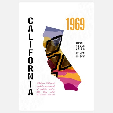 California Map Print 13x19 now featured on Fab.
