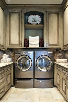 Perfect laundry room layout (the cabinets in the laundry room will be the same as the cabinets in the bathrooms)