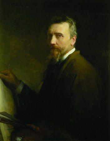 Self-portrait of Danish artist Carl Bloch. (Courtesy of BYU-MOA)