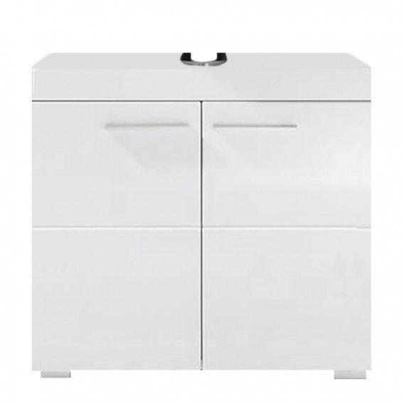 Waschbeckenunterschrank Madie - Hochglanz Weiß / Weiß | Home24