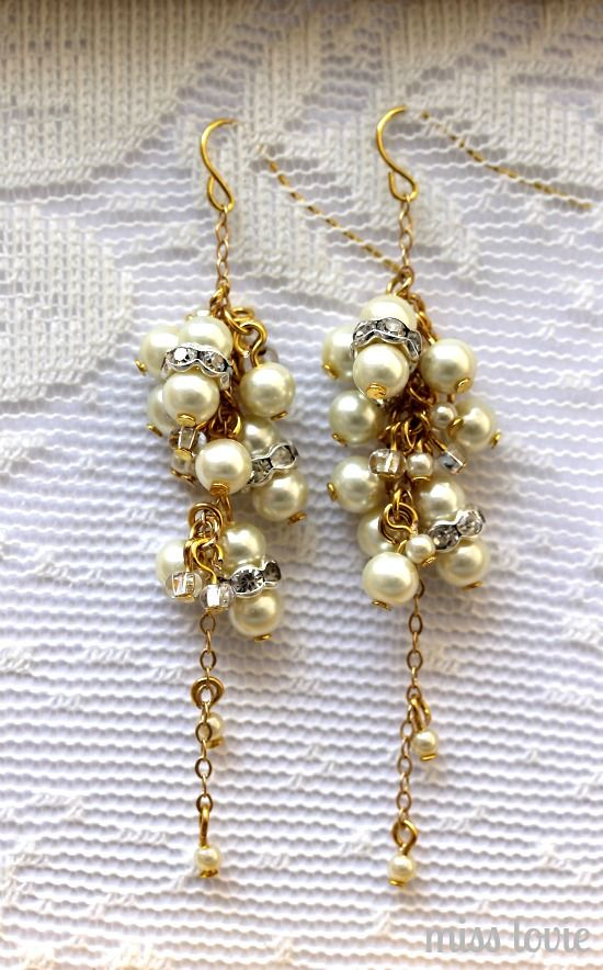 8 Stunning Wedding Earring Tutorials For the Crafty Bride | Brandywinejewelrysupply Blog