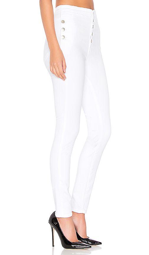 99eafa583ed0 J Brand Natasha Sky High Skinny in Blanc