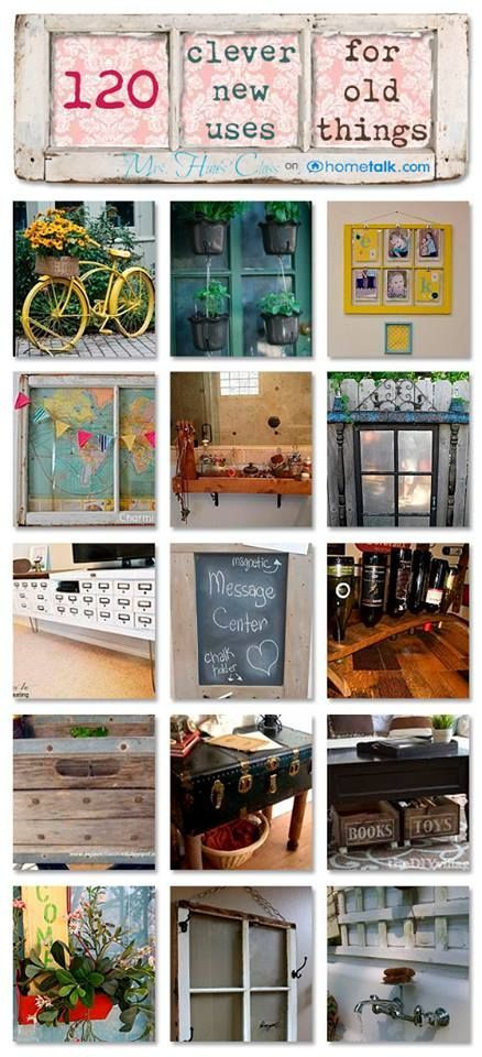 Discover over 120 Clever New Uses for Old Things at www.mrshinesclass.com