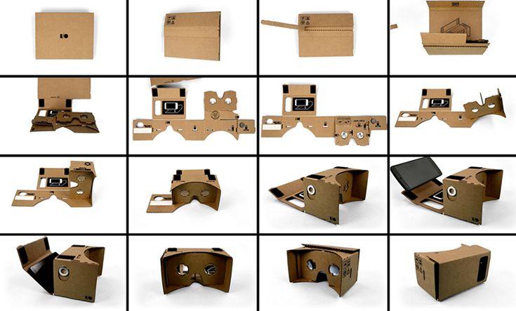 DIY Google картон для мобильных телефонов, Виртуальная реальность, 3D очки.