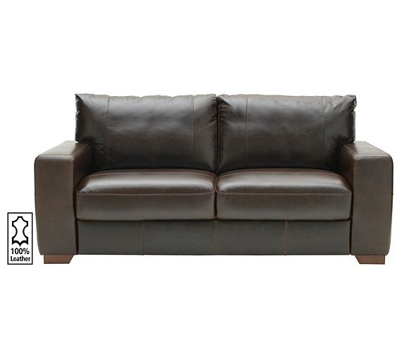 Buy Heart of House Eton Large Leather Sofa - Chocolate at Argos.co.uk, visit Argos.co.uk to shop online for Sofas, Sofas, armchairs and chairs, Home and garden