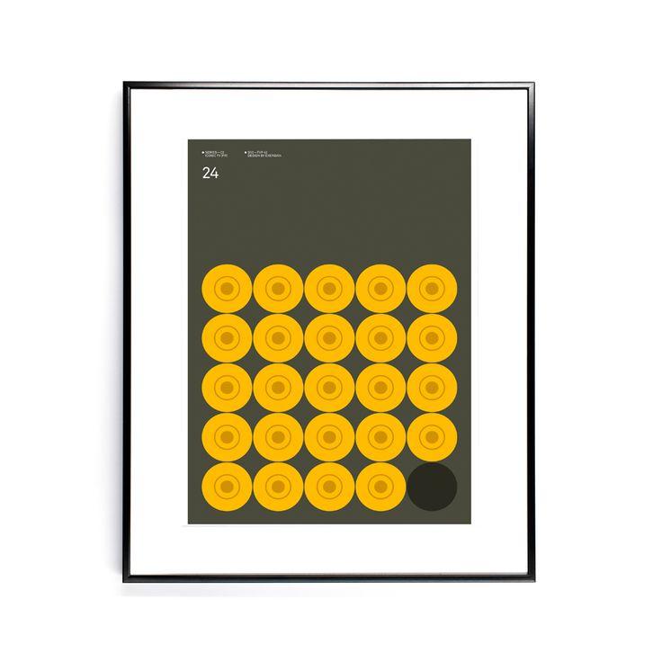 24 print - 30x40 cm - Tavlor, affischer, anslagstavlor – Möbler från Svenssons i Lammhult