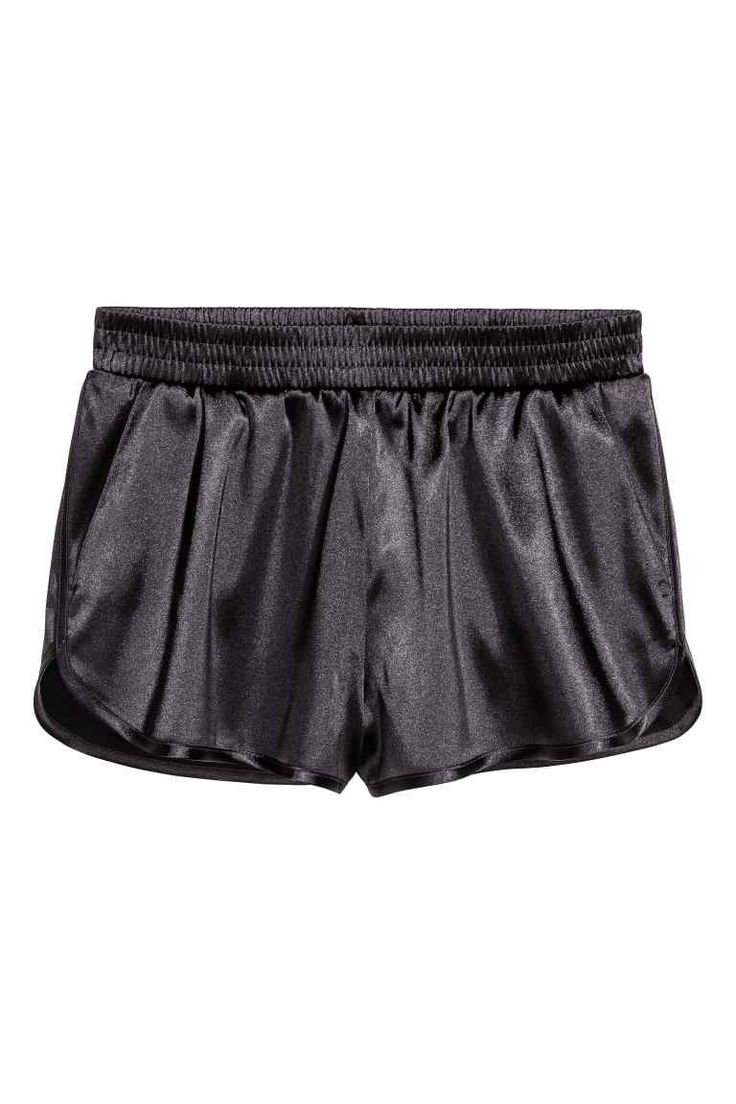 Satin shorts - Dark grey - Ladies | H&M GB