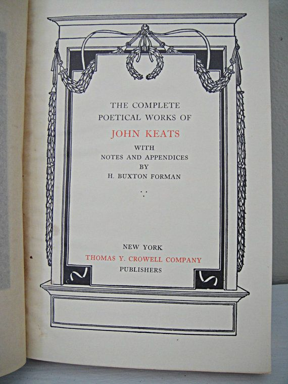 JOHN  KEATS  |  POEMS  |    1800's Keats's Poems Leather-Bound John Keats by RustyNailDesign