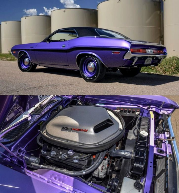 Hot American Cars — Unique Plum Crazy 1970 Dodge HEMI Challenger See…