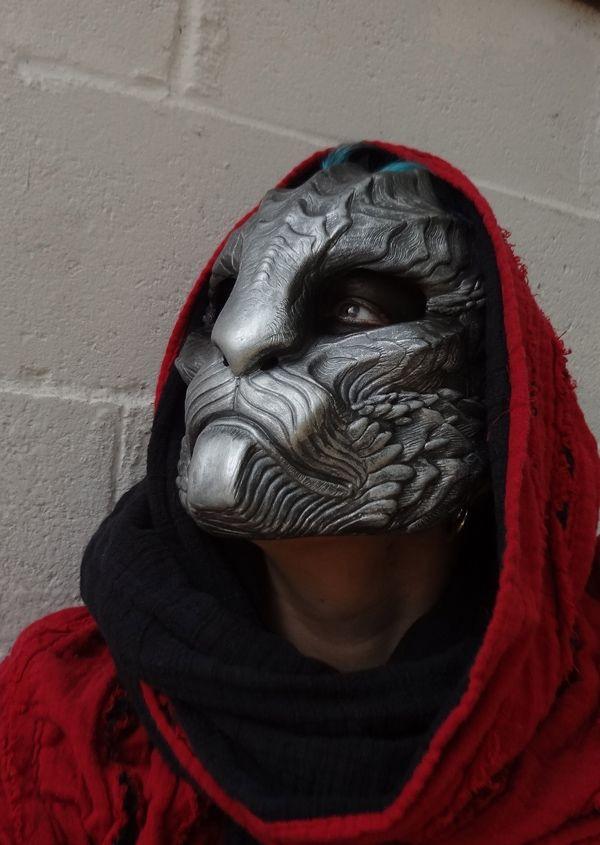 Dragoncat mask - silver by missmonster.deviantart.com with Pin-It-Button on @deviantART