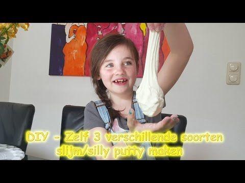 DIY - Zelf 3 soorten slijm maken - silly putty maken bijv met maïzena en crèmespoeling! (Nederlands) - YouTube