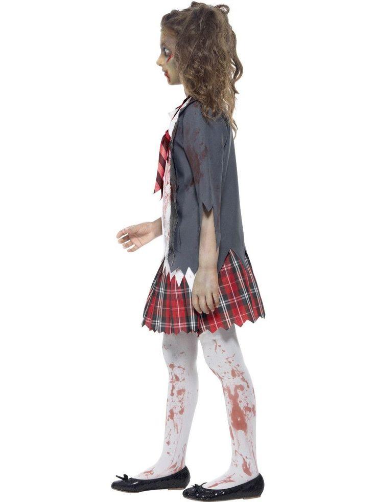 Girl's Zombie School Girl Costume