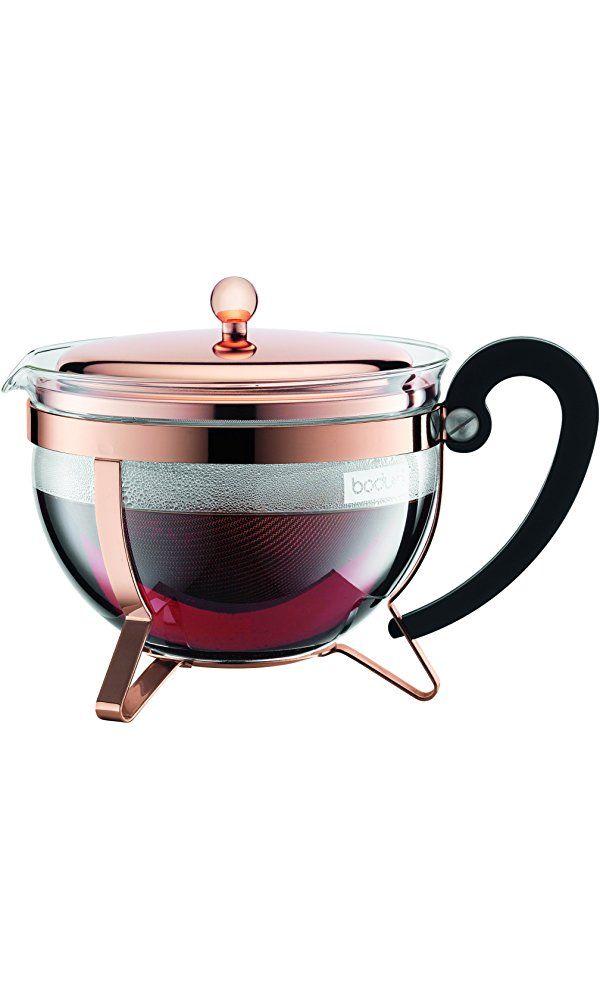 Bodum Chambord Copper Classic Teapot, 44 ounce Best Price