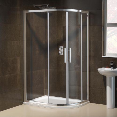 900 x 760mm Right Quadrant Easy Clean Bathroom Shower Enclosure + Tray ES1003   eBay