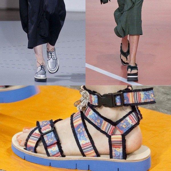 Llevarás zapatos feos Jil Sander o Marni son algunos de los que suben zapatos feos a la pasarela: zapatos tipo flatform, oxford, y chancle...