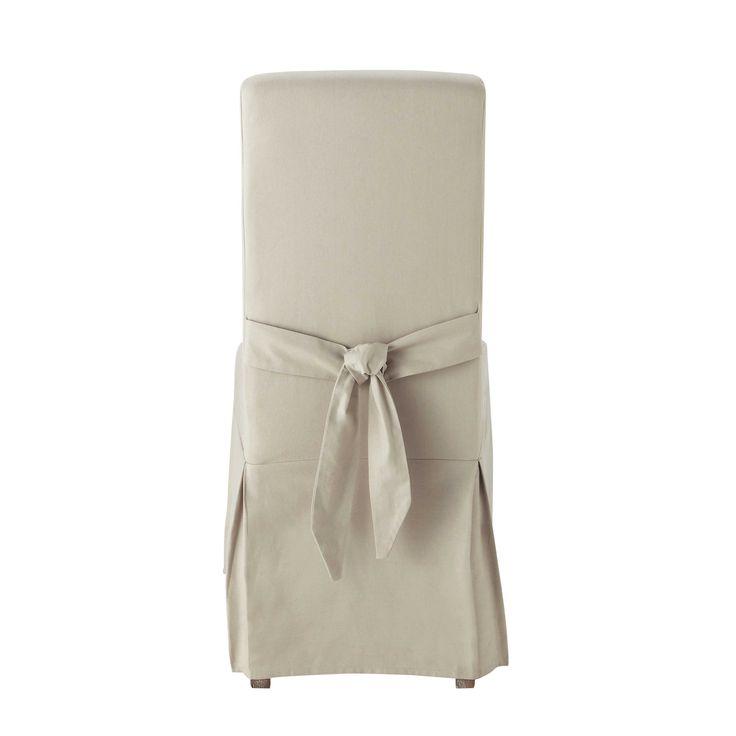 Fodera per sedia con fiocco di cotone mastice - Margaux Margaux