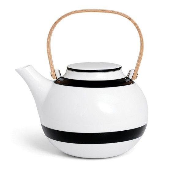 Omaggio Teapot  Black