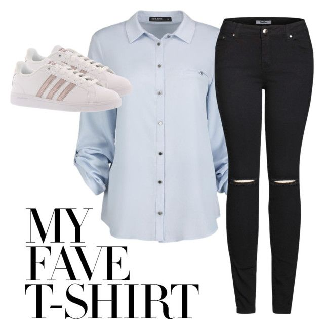 """""""Casual but classy"""" by viviendodesilencios on Polyvore featuring 2LUV, adidas and MyFaveTshirt"""