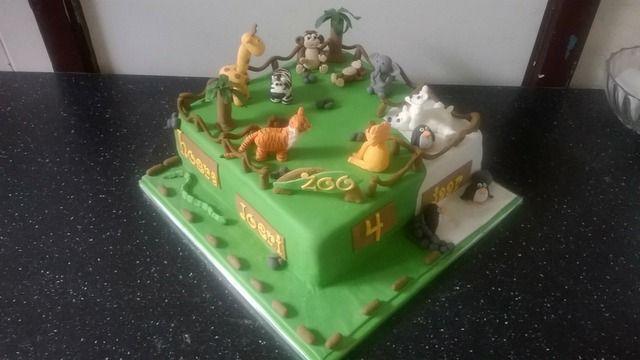 dierentuin taart - zoo cake