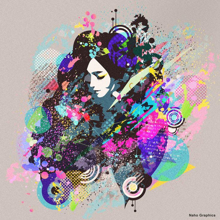 【web】http://naho.tv/ #イラスト #絵 #アート #ard #design #デザイン #illustration #art #デザイン #drawing #女性 #女性イラスト
