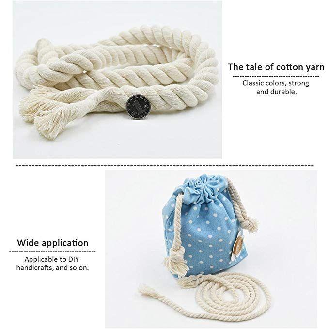 7ca404d73c23 Hecho a mano Hilo de algodón macramé cuerda 100% algodón natural ...