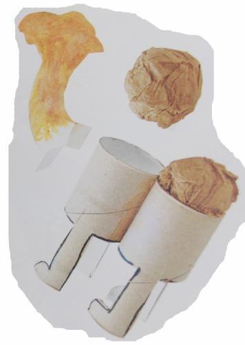Piezas separadas del camello